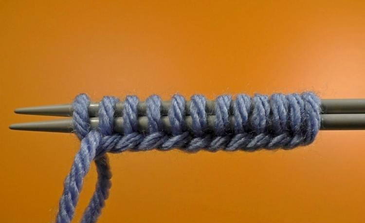 Вязание начального ряда спицами